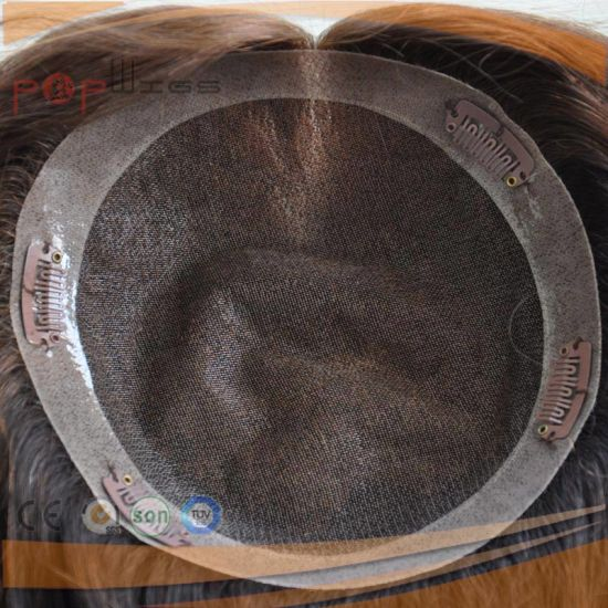 Brazilian Hair Full Lace PU Border Hairpiece (PPG-l-0496) pictures & photos