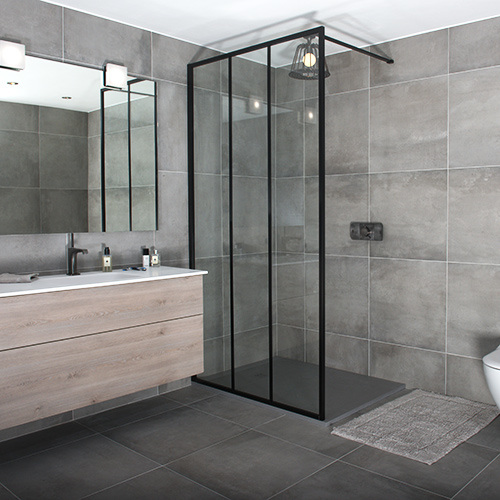 Bathroom Chromed 8mm Toughened Glass Tempered Shower Screen Frosted pictures & photos