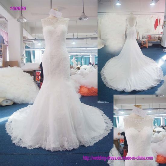 50ef1b963f71 Wholesale Backless Trumpetand Wedding Dress with Lace Edge of The Dress
