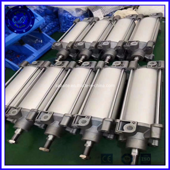 Customized Long Stroke Double Piston Double Acting Pneumatic Cylinder