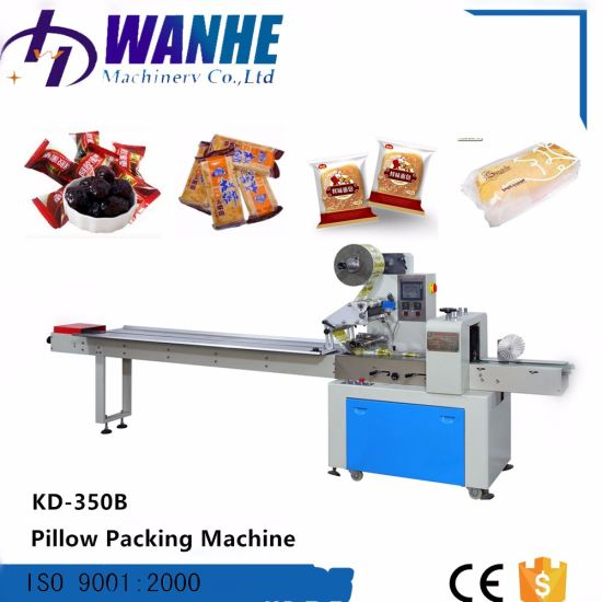 Automatic Cookies, Bisuit, Bread Pillow Packaging Machine for Ice Stick Ice Cream Ice Lolly