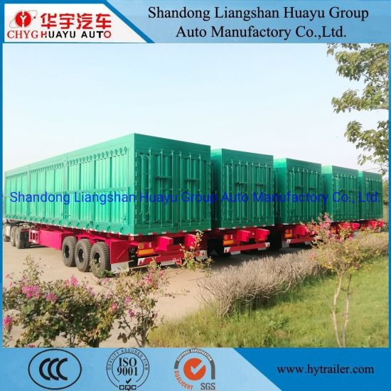 Three Axle 60/70/80/100 Ton Van/Box/Side Wall/Fence/Stake Truck Semi Trailer for Animal/Livestock/Beer Transport