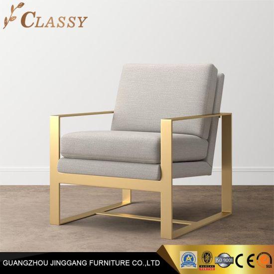 Fabulous Modern Metal Frame Accent Chair Grey Lounge Chair Inzonedesignstudio Interior Chair Design Inzonedesignstudiocom