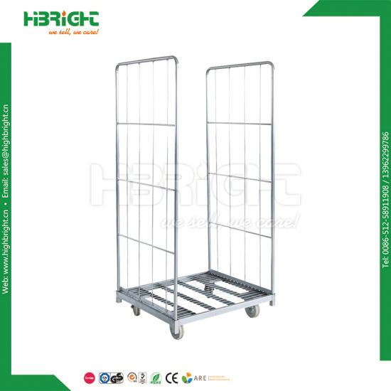 Gym Steel Tube Storage Cart Metal Mat Trolley pictures & photos