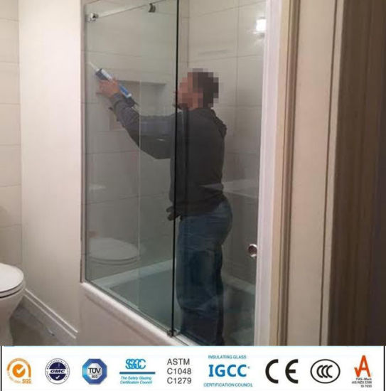 Ce Certificate Clear Toughened Glass Bathroom/Shower Enclosure Glass Door  Panel