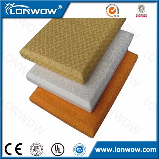 Fiberglass Wool Acoustic Wall Panel for Ceiling and Wall