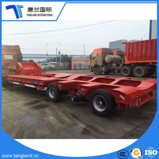 3 Axles Tractor/Driving Truck/Bus /Special Car/Excavating/Bulldozer/Loader Machinery Semi Trailer pictures & photos