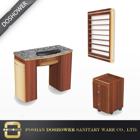 Salon Furniture Wooden Double Nail Table Manicure Table