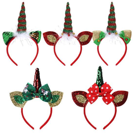 Holiday Decoration Hair Ornament Hairband for Christmas Hair Accessories  Hair Band Headband 3bf5e9a4abb