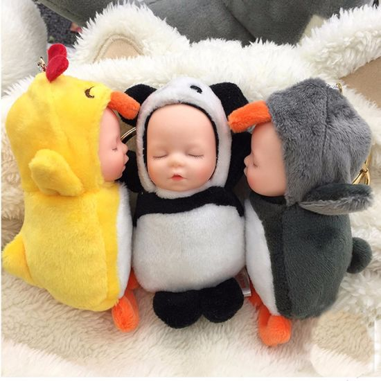 China 5 Colors 10cm Sleeping Small Baby Dolls Plush Toy Kawaii