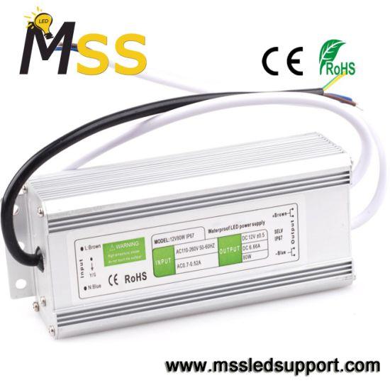 IP67 Waterproof 200W 12V 24V Slim LED Transformer with Ce RoHS