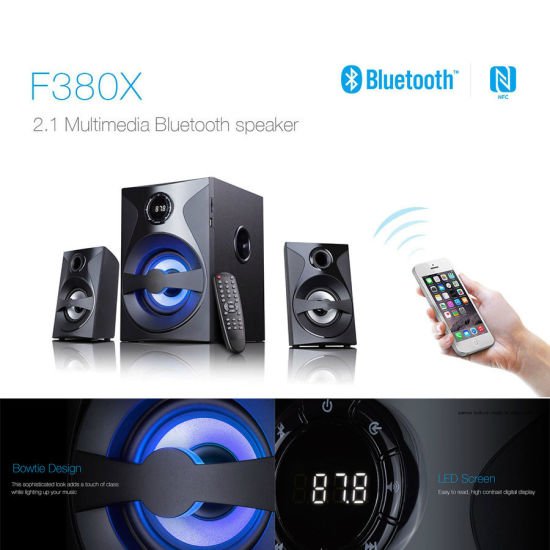 2.1 Multimedia Bluetooth Speaker for Computer LCD Flat TV with LED Colorful Light