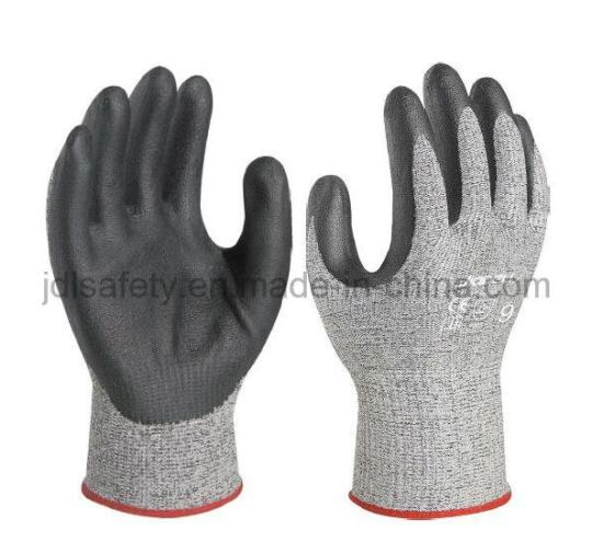 12 Pairs Of Nitrile Coated Nylon Work Gloves Size 8 EU