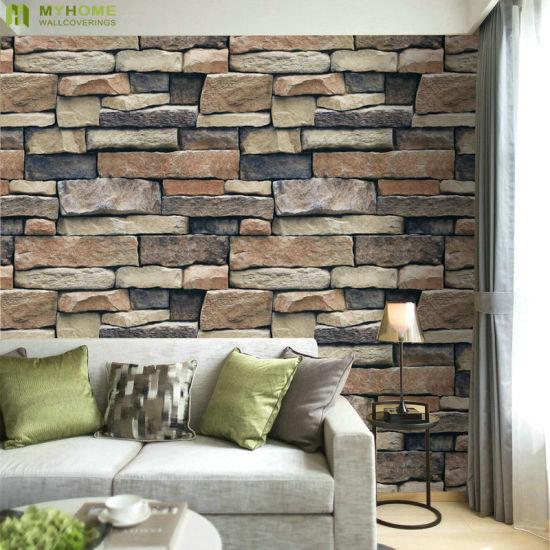 China Wallpaper Wholesale Cheap Price Modern Interior Vinyl 3d