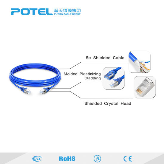 Cat5/Cat5e/CAT6 Flat FTP Ethernet Network Cable RJ45 Patch LAN Cable pictures & photos