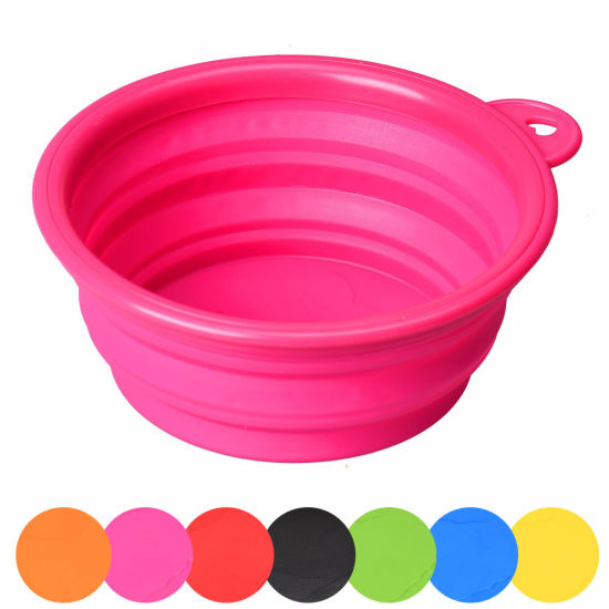New Hot Portable Foldable Silicone Dog Bowl Outdoor Travel Collapsible Pet Products