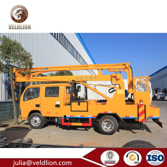 Dongfeng High Altitude Operation Truck for Custom Lift 200kg, 8-22m Climbing Platform Truck