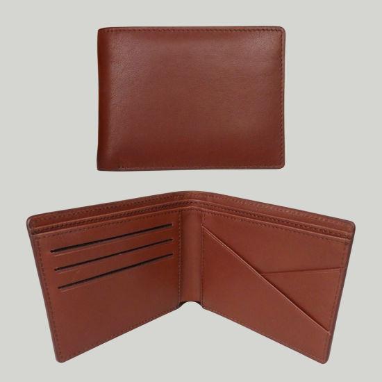 Men Genuine Leather Purse Full Grain Cowhide Pocket Wallet