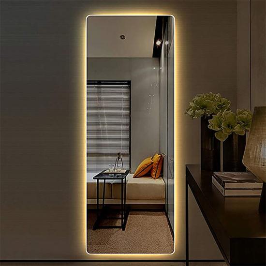 China Factory Frameless Wall Full Length LED Backlit Lighting Mirror for Beauty Salon