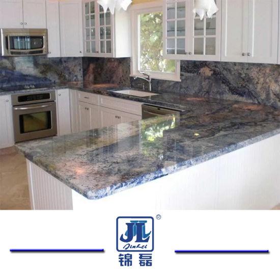 Bahama/Vizag Blue Granite For Countertops /Vanities/Headstone/Gravestone/Tiles/Countertops/Kitchentops/Hotel/Building  Materials
