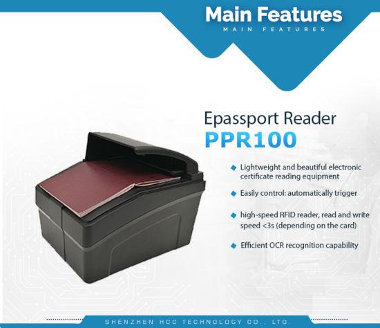 Electronic ID Duty-Free Shop E-Passport NFC Mrz Ocr Passport Reader  (PPR-100)