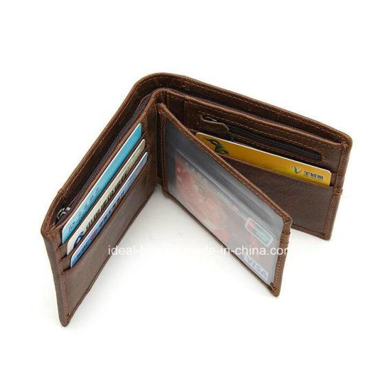 af930bd0c7b79 Fashion Genuine Leather Travel Man Credit Card Holder Pocket Coin Purse  Money Clip Wallet Wholesale