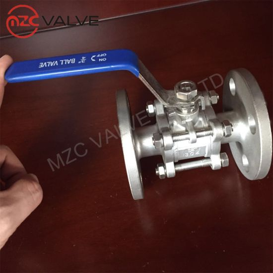 Wholesales ANSI Standard Three Piece Flanged End Ball Valve