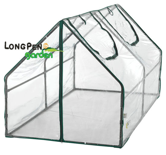 PVC Mini Cloche Greenhouse with 2 Openings Home Gardening pictures & photos