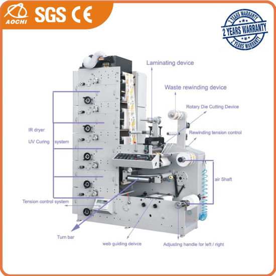 Multi-Color Flexo Printing Machine (AC480-6B)