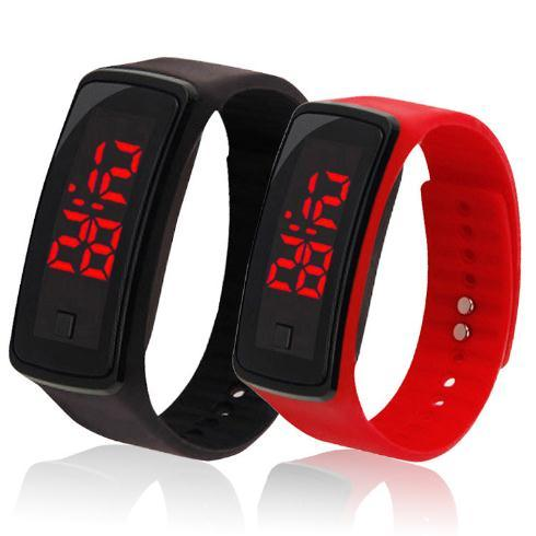 New Product LED Silicone Electronic Digital Watch pictures & photos