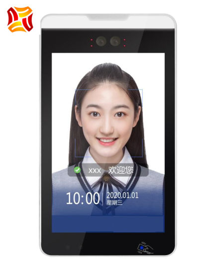 10.1'' Inch Ultra Thin Intelligent Touch Screen Panel Binocular Living Body Facial Recognition System Face Recognition TerminalAccess Control System