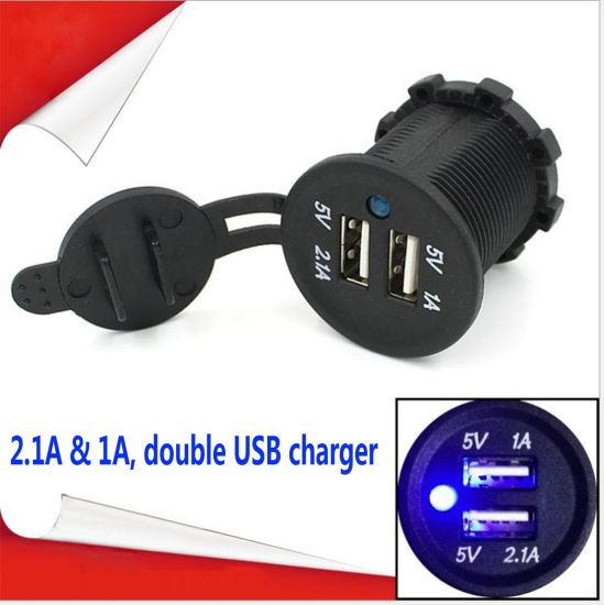 Car USB Charger Bus USB Charger Dual USB Charger Adapter Socket pictures & photos