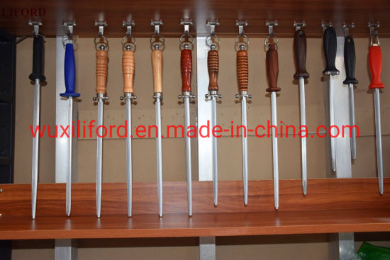 Liford Honing Steel Knife Sharpening Rod - 10 Inches Knife Rod Sharpener