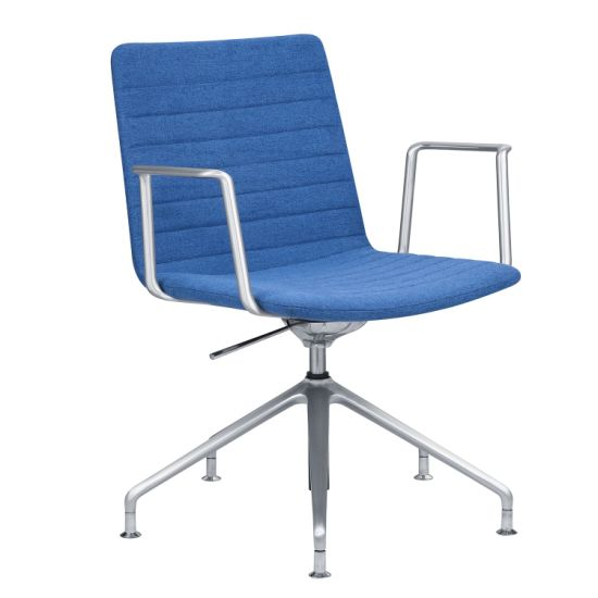 Hot Sale Fabric or Leather Aluminum Arms Swivel Meeting Chair