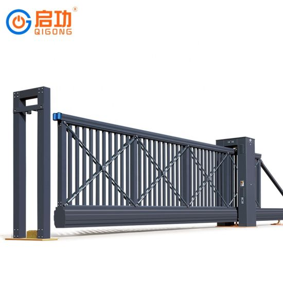 Heavy Industrial Automatic Sliding Gate for Military Factory Use