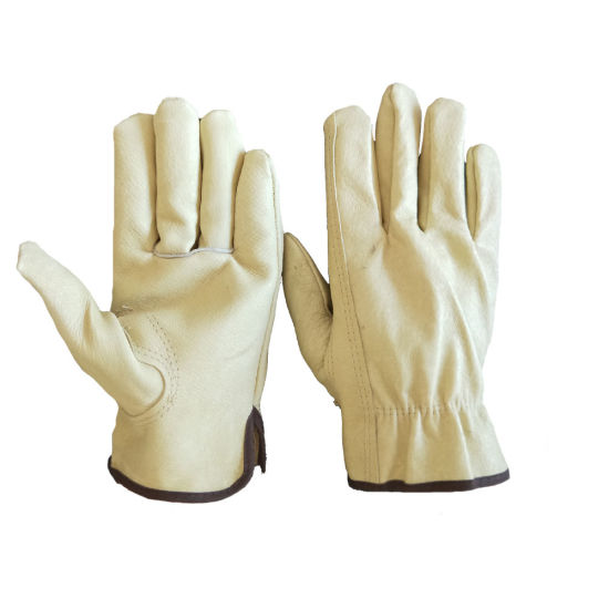 Cheap Price China Keystone Thumb Pigskin Work Leather Driver Glove