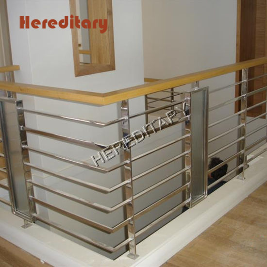 Wooden Handrail Wall-Mount With Plugs Stairs Staircase Handrail Banister Rail Support Kit Natural Banister Stainless Steel Fittings