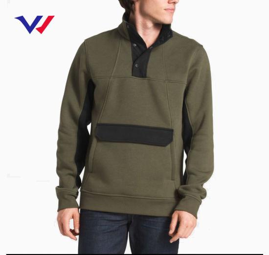 OEM Service Men Custom Printed Logo Design Kangaroo Pocket Pullover Hoodie Casual Hoodie Custom Hoodie