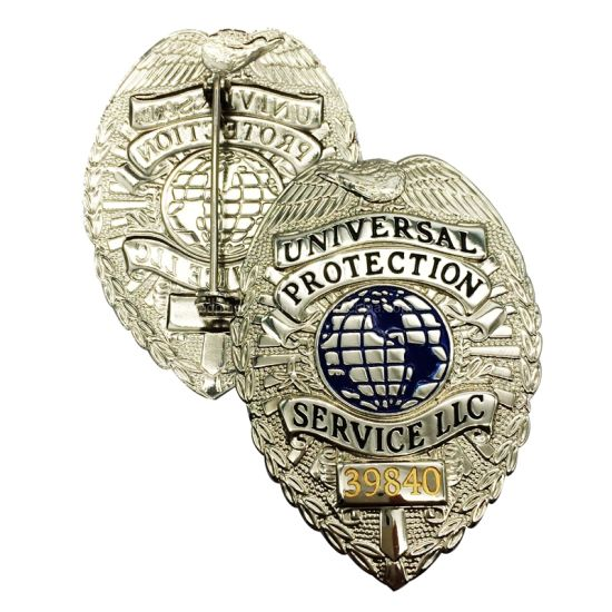 Printing with Epoxy Coating Stainless Steel Printed Metal Custom Security Police Badges