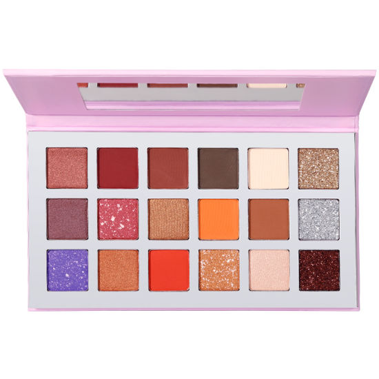 18 Colors Private Label Eyeshadow Palette High Pigment Makeup Eyeshadow Palettes