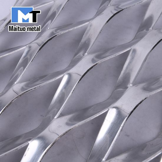 Aluminium/Galvanized Steel Expanded Metal Mesh Sheets /Roll for Decorative /Gutter/Fence pictures & photos
