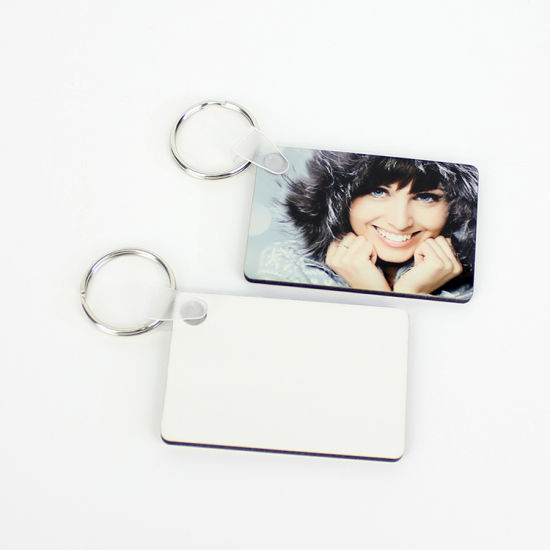 Rectangle Shape Sublimation Printing MDF Keychains