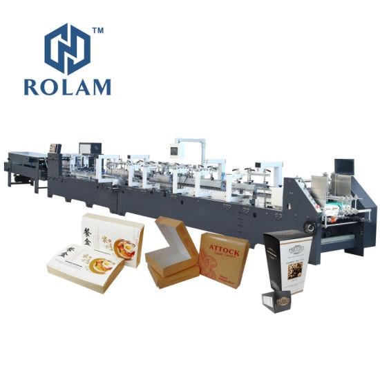 Glue Points Corner Box Gluing Folding Machine for Pizza Cake Box Making (GK-1100CS) Series