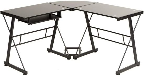 Gaming Desk Home Office Toughened Gl