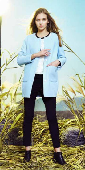 Wholesale Chinese Original Design Stock Garment Long Coat