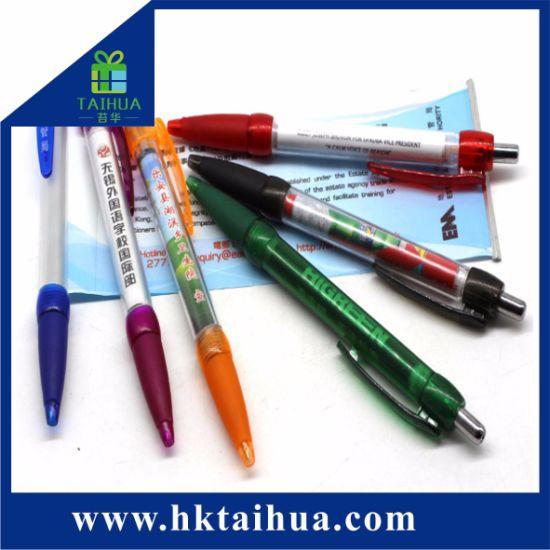 Custom Logo Printed Office Supply Promotion Gift Pen Plastic Banner Pen