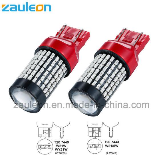 T20 7443 W21/5W 144SMD 3014 Red LED Brake Light