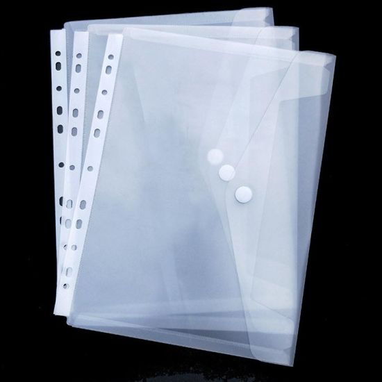 Cheap Price Document Plastic Clear Document Bag with 11 Holes for Ring Binder/ Lever Arch File Folder pictures & photos