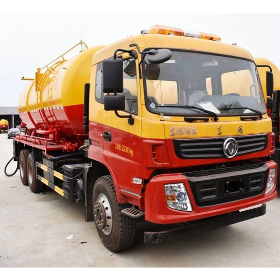 10000L-18000L 6*4 Dongfeng 16000 Liter Acuum Large Capacity Sewage Suction Tanker Truck pictures & photos