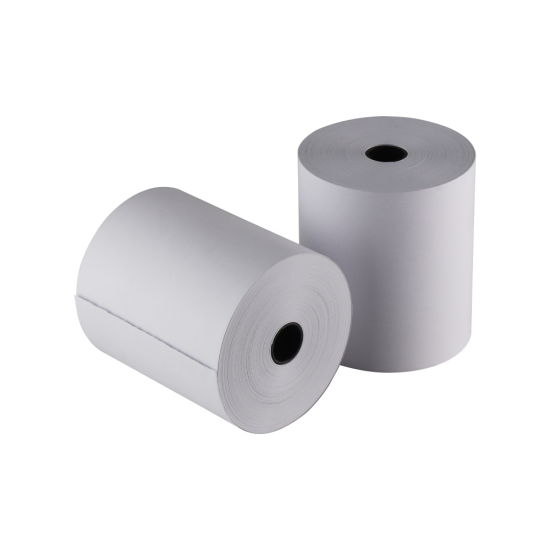 OEM BPA Free 80*80mm Thermal Paper Rolls for POS ATM Machine 65GSM